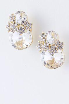 Added to my wish list!! santa do you hear me???!! Sasha Crystal Earrings on Emma Stine Limited