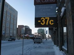 ...but at least it looks like a clear and calm balmy day in Yellowknife, Canada.