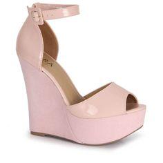 Sandália Anabela Feminina Lara - Rosa Men's Pants, Wedges, Cat Walk, Shoes, Pink
