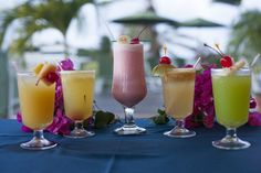 Give one of our tropical cocktails a try...happy hour everyday from 5-7pm #BayHouseRestaurantAntigua #TradeWindsHotelAntigua