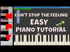 Can't Stop The Feeling - EASY Piano Tutorial - Justin Timberlake