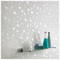 Graham & Brown, Contour - Spa Pastel Wallpaper in White