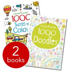 1000 Doodles & 1000 Things to Colour