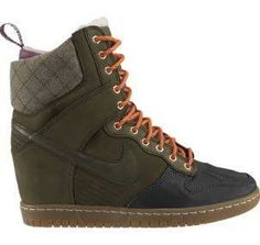 'nike dunk sky high sneaker boot green' - Google Search