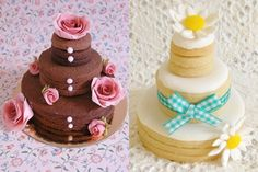 Wedding Cake cookies © Cakes Haute Couture
