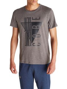 LOGOPRINTET SLIM FIT T-SHIRT, Grey Melange