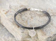 Armbänder - Schnur Armband Mandala - ein Designerstück von Cathy-Thica-Namaste bei DaWanda