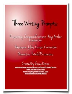 This has three writing prompts for three separate essays:1. Expository: Prompt is compare/contrast specific to