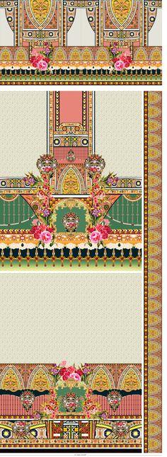 Textile Patterns, Textile Design, Textiles, Border Design, My Design, Design Seeds, Album Design, Shutter, Digital Prints
