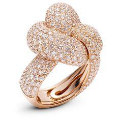 Palmiero - Intrecci Ring - 18 ct rose gold & diamonds
