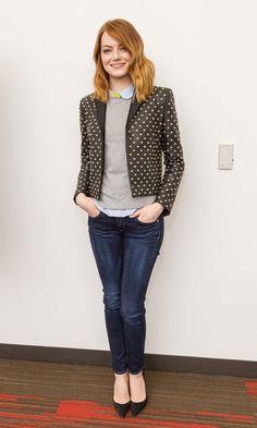 Emma Stone In Saint Laurent