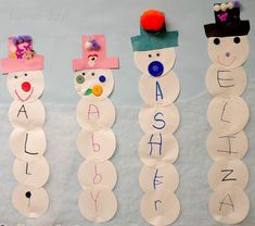Name snowmen would be a great literacy addition to your winter study.