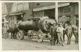 Boiler delivery down Main Street :: The Jonesboro and Craighead County Collection Jonesboro Arkansas, Arkansas State University, Western North Carolina, East Tennessee, Local History, Boiler, Lake City, Old Pictures, Main Street
