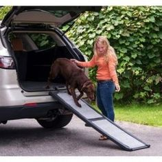The Pet Gear Full-Length Bi-Fold Pet Ramp allows your dog easy access into your vehicle or other hard to reach places. The removable carpet tread is machine was Cat Throwing Up, Cleaning Litter Box, Pet Ramp, Pet Camera, Puppy House, Dog Whisperer, Dog Steps, Pet Dogs, Pets