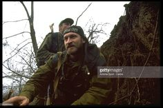 Chechen rebel leader Akhmed Zakaiev. | Location: Goiskoie, Chechnya, Russia.