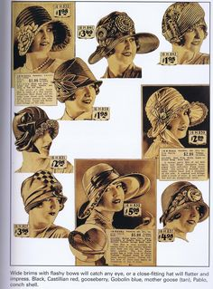1920s Hat Catalogue