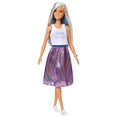 Papusa Barbie Fashionistas 120, FXL53 Barbie Shop, Mattel Barbie, Barbie Dolls, Barbie Stuff, Cute Hair Colors, Girl Hair Colors, Eye Colors, Hair Colours, Blonde And Blue Hair
