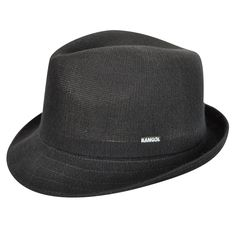 The Bamboo Arnold Trilby is a modern trilby shape with stingy snap brim that is slightly longer in the front and shorter in the back. Bamboo yarn is a soft handle, environmentally friendly yarn that has become an understated but chic staple in the range.