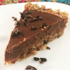 Torta de caramelo de amêndoas e ganache sem glúten, delicia saudável!! Vem aprender!!