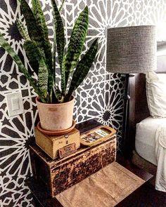 Wallpaper or stencils? Get this look using Cutting Edge Stencils DIY wall stencil patterns