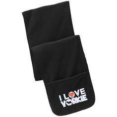 I Love My Yorkie- Fleece Scarf with Pockets