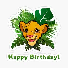'Happy Birthday - Lion King - Simba' Sticker by RotemButzian Simba E Nala, Simba Rey Leon, Lion King Simba, Happy Birthday Theme, Lion King Birthday, Baby Boy 1st Birthday Party, Lion King Theme, Lion King Baby, Lion King Pictures