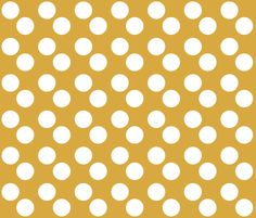 Gold   White Polka Dots fabric by popsypix on Spoonflower - custom fabric