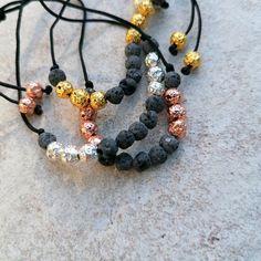 Lava Armband gold, roségold oder silber   Diffuser Aroma Schmuck