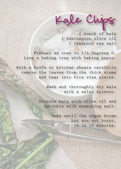 Kale Chips {baked not fried} : Iron Chef Shellie