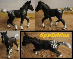 schleich lipizzaner foal (the old one) turned appaloosa