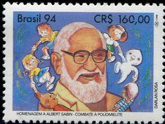 Albert Sabin - Brasile 1994 Francobolli Medicina - Personaggi famosi - Medicine Stamps - Famous People