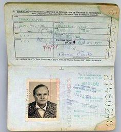 Pasaporte de Truman Capote