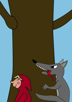 Little red riding hood and the wolf www.jackelien.nl