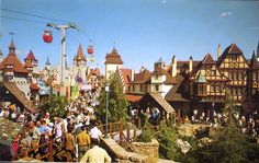 Fantasyland from Skyway Station (1970s?)