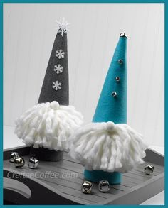 DIY easy and Whimsical Felt Gnomes (no-sew!)