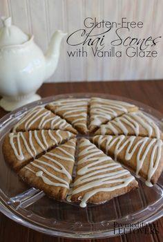 Gluten-Free Chai Scones with Vanilla Glaze Recipe