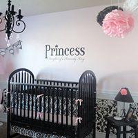 Pink And Black Princess Baby Nursery Reveal