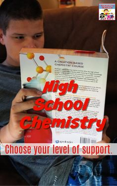 How much support do you need to teach high school chemistry? #homeschoolhighschool #homeschooling #highschoolscience #homeschoolcurriculum