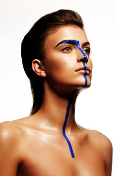 makeup Geometry - Petrine Houlberg by Christophe Donna