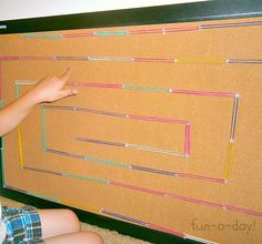 A DIY Geoboard Maze [Contributed by Fun-A-Day!] - B-Inspired Mama