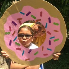 Donut photo prop: used foam board, paint, and glitter tape