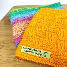 KRYDS & TVÆRS - opskrift på karklud by Sannes-web.dk Knitted Hats, Crochet Hats, Couture, Stitch Design, Washing Clothes, Needlework, Beanie, Knitting, Diy
