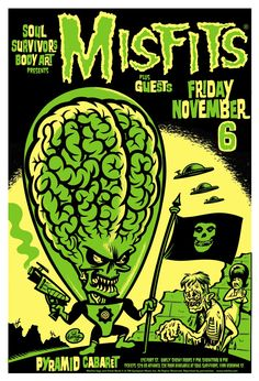 Misfits Gig Posters x concert poster available now. Tour Posters, Band Posters, Music Posters, Gig Poster, Poster Prints, Album Design, Cover Design, Arte Punk, Gravure Illustration