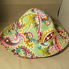 """VERA BRADLEY Light Green Floral Bucket Summer Hat I can really see someone wearing this while planting flowers.  Very beautiful!  Brand: Vera Bradley Item: Bucke Hat Color: Light Green Floral Measurements: 9"""" head opening. 3.5"""" brim Materials: Cotton Condition: NWOT  Please check my other listings for bundles to pay one shipping charge as I have a lot of small things listed. 10% off 4+ bundles YOU make. No lowballs. Vera Bradley Accessories Hats"""