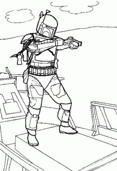 printable jigsaw puzzles to cut out for kids halloween 23 coloring ... - Boba Fett Coloring Pages Printable