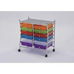 Palash 12-drawer Storage Cart