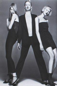 Versace Lookbook F/W 1997, Kristen McMenamy, Kirsten Owen & Karen Elson by Richard Avedon.