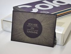 You Are My Sunshine - Pen drawn art card