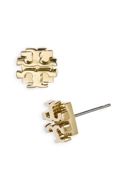 Free shipping and returns on Tory Burch Small Logo Stud Earrings at Nordstrom.com. A stylized logo modernizes essential studs.