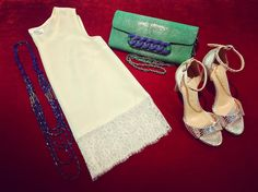 Are you ready for San Juan Celebration? 🎉🎉🎉 Get your perfect look on time! 💙🔥💚 💓@valettidesign lace top for fresh & sexy outfit 💚@ninetyjoyeria green stingray leather clutch with sophisticated blue chain ✨Leagu python printed silver sandals for the Queen of the night 💙 Blue multistrap crystal necklace to follow the rhythm of the sea 🍒Here we go! 🍒 #CherryHeel #luxury #boutique #barcelona #madeinitaly #fashion #outfit #totallook #sanjuan #summer2017 #verbena #lacetop #galuchat…